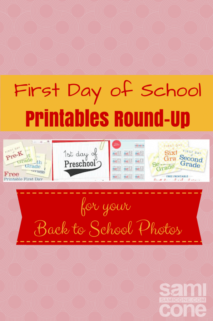 First Day of School Printables Round-Up
