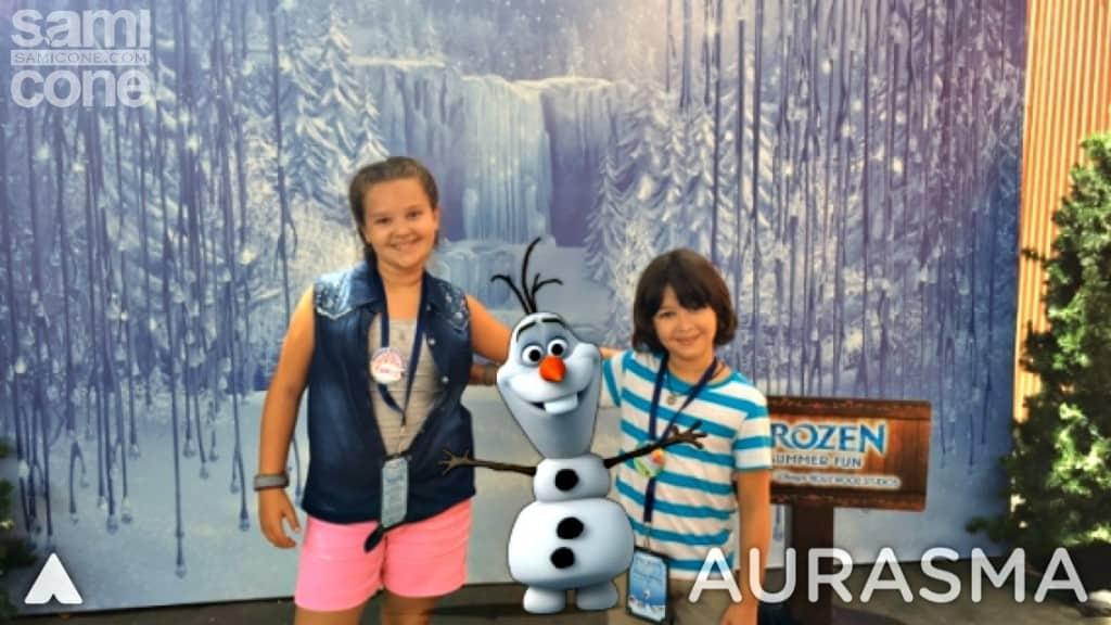 disney-frozen-summer-aurasma-olaf