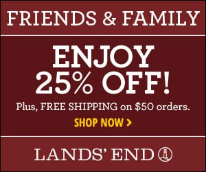Lands End Friends and Family Sale 2014