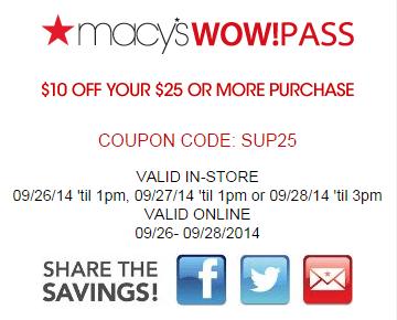 Macys Printable Savings Pass September 20141 Macys Printable Savings Pass September 2014
