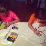 Kids tshirt fabric markers
