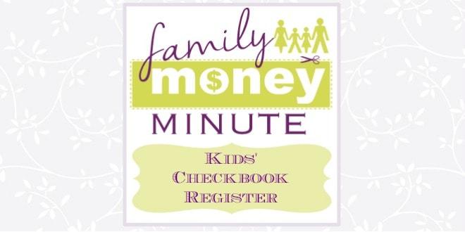Kids' Checkbook Register