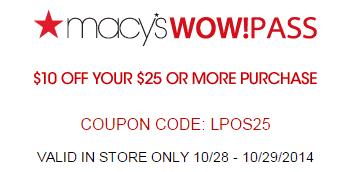 Macys Printable Savings Pass October 20143 Macys Printable Savings Pass October 2014