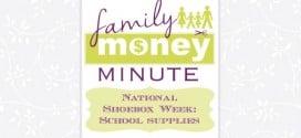 National Shoebox Week School Supplies