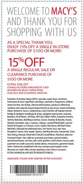 Macys Printable Savings Pass No Expiration