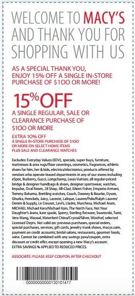 Macys Printable Savings Pass No Expiration