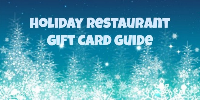 Holiday Restaurant Gift Card Guide 2014
