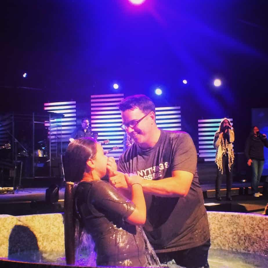 Kariss baptism wet