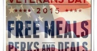 Info about Free Veterans Day Deals 2015