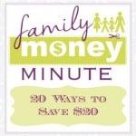 20 Ways to Save $20