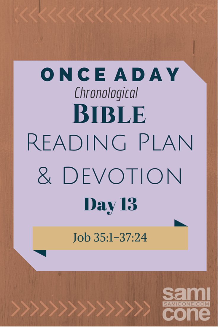 Once A Day Bible Reading Plan & Devotion Day 13