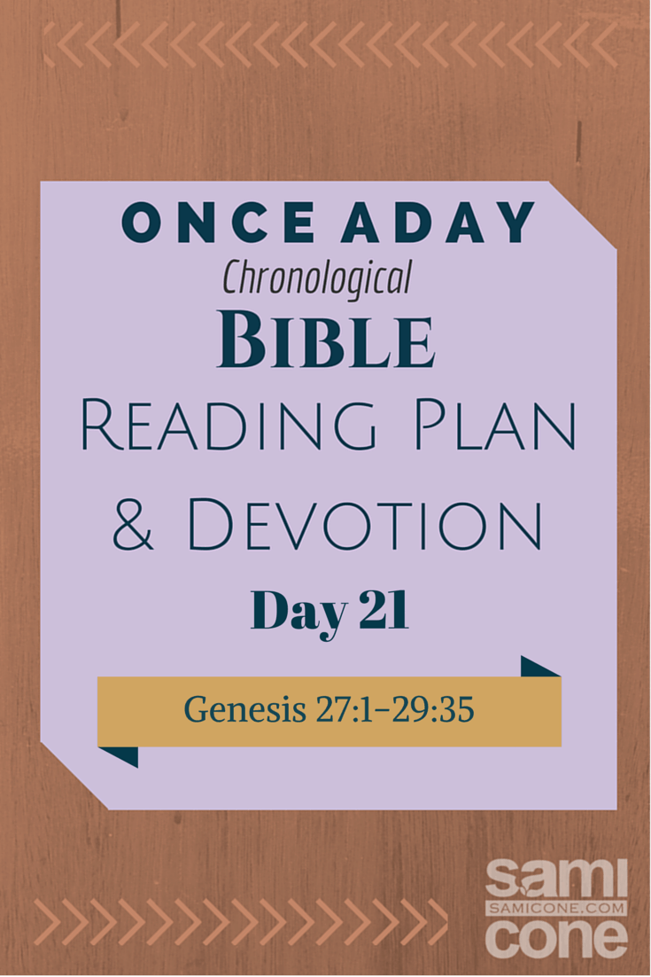 Once A Day Bible Reading Plan & Devotion Day 21
