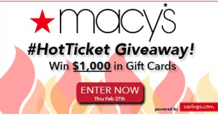 macys hot ticket giveaway