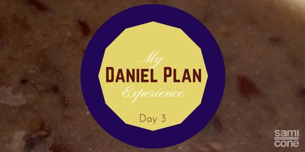 Daniel Plan experience day 3