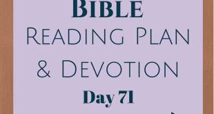 Once A Day Bible Reading Plan & Devotion Day 71