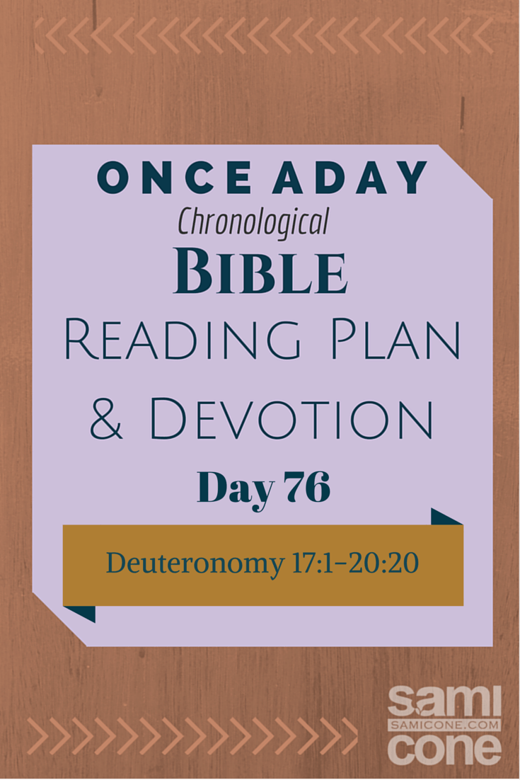 Once A Day Bible Reading Plan & Devotion Day 76