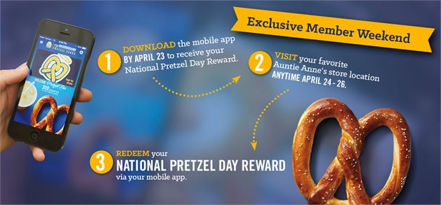 Auntie Annes National Prezel Day