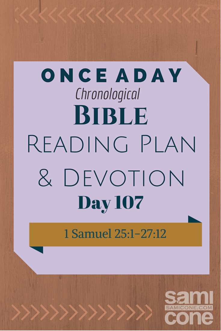 Once A Day Bible Reading Plan & Devotion Day 107