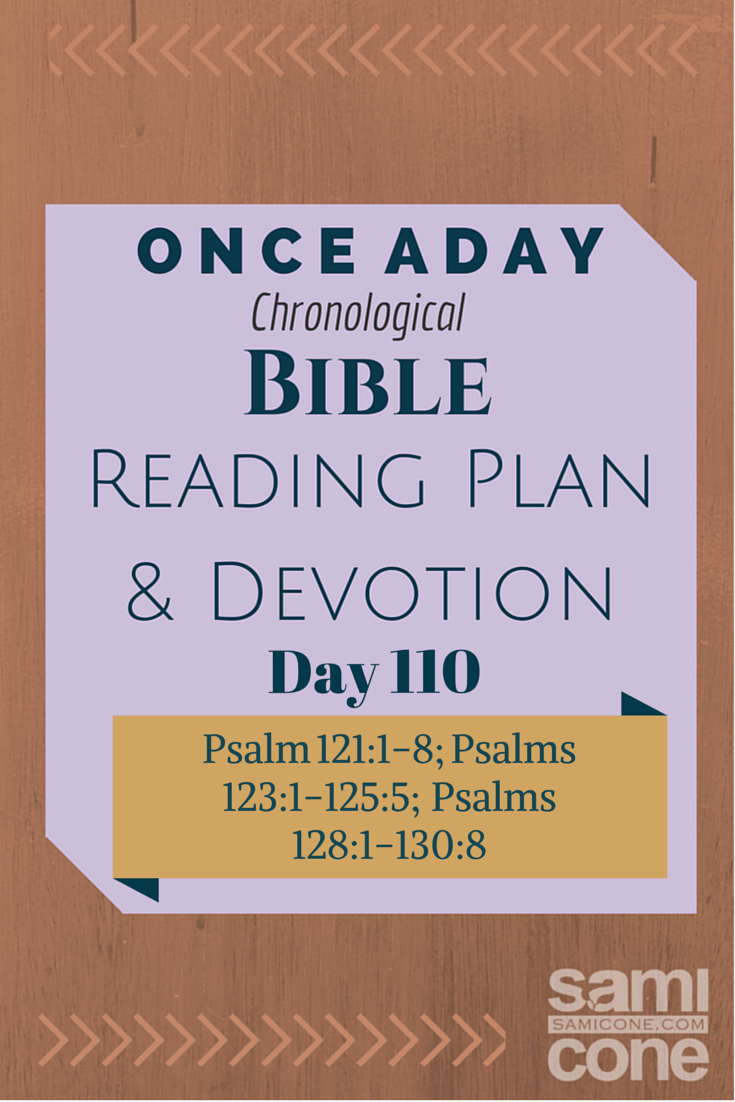 Once A Day Bible Reading Plan & Devotion Day 110