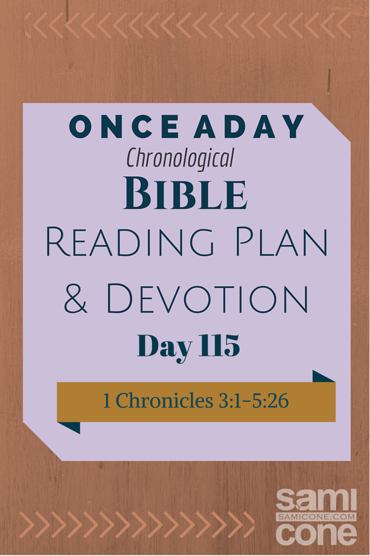 Once A Day Bible Reading Plan & Devotion Day 115