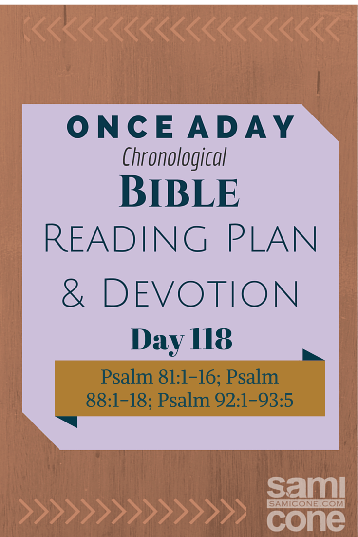 Once A Day Bible Reading Plan & Devotion Day 118