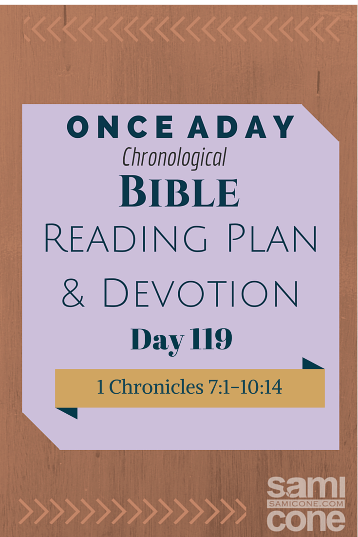 Once A Day Bible Reading Plan & Devotion Day 119