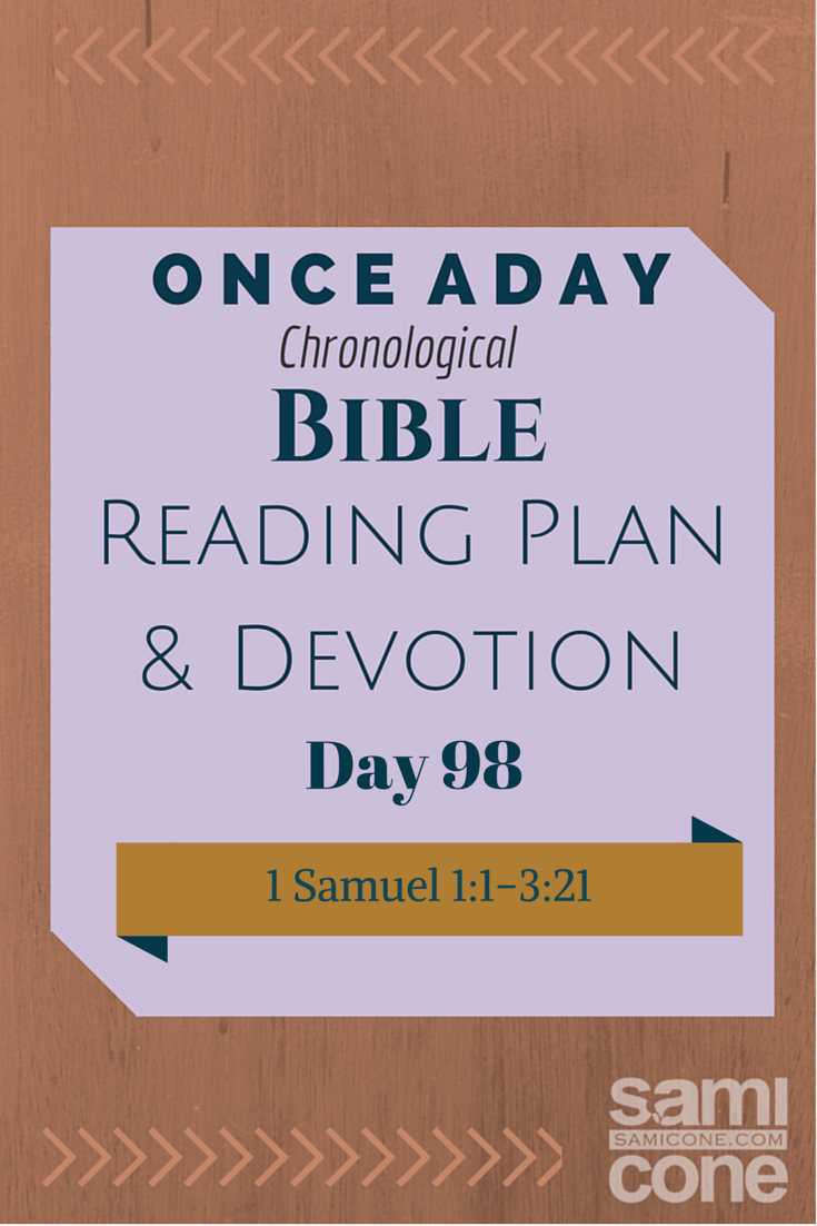 Once A Day Bible Reading Plan & Devotion Day 98