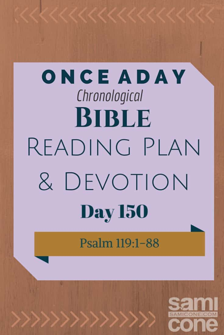 Once A Day Bible Reading Plan & Devotion Day 150