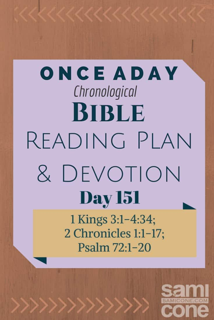 Once A Day Bible Reading Plan & Devotion Day 151