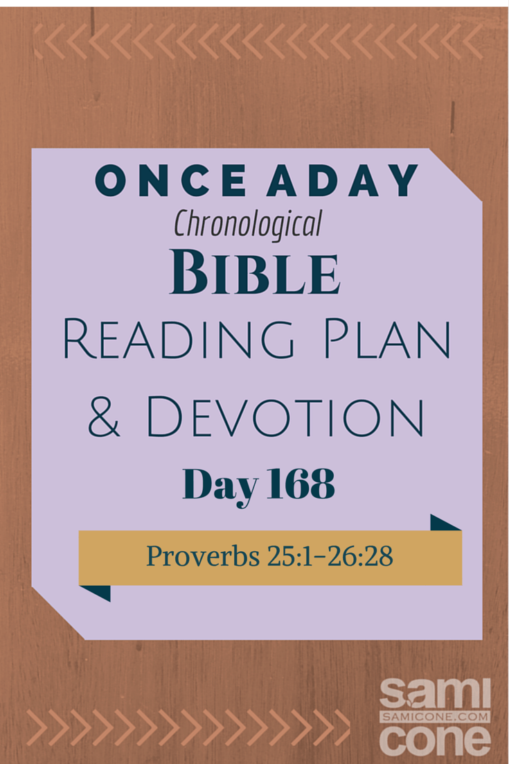 Once A Day Bible Reading Plan & Devotion Day 168
