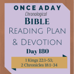 Once A Day Bible Reading Plan & Devotion Day 180