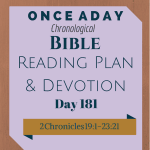 Once A Day Bible Reading Plan & Devotion Day 181