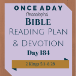 Once A Day Bible Reading Plan & Devotion Day 184