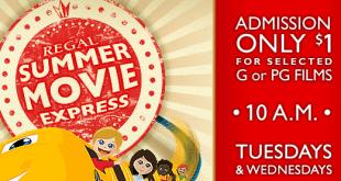 Regal $1 Summer Movies 2016 | Kids Summer Movie Express