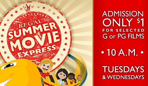 Regal $1 Summer Movies 2016 | Kids Summer Movie Express