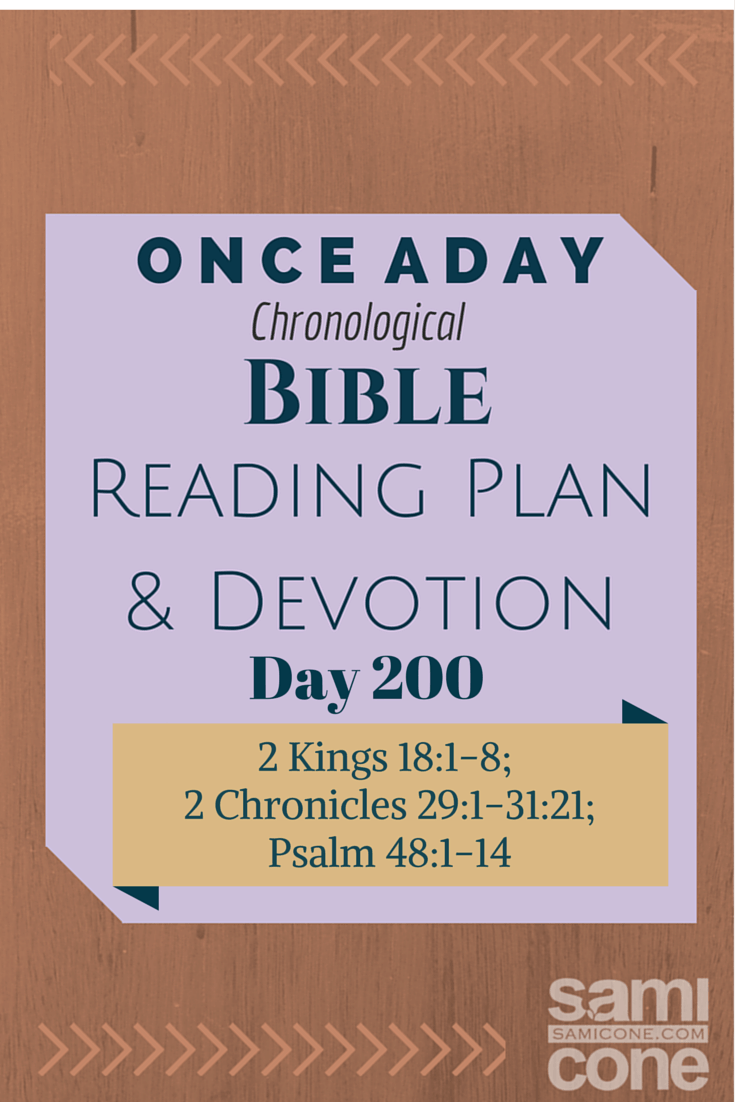 Once A Day Bible Reading Plan & Devotion Day 200