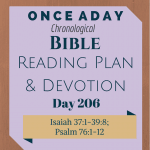 Once A Day Bible Reading Plan & Devotion Day 206
