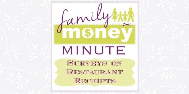 Surveys on Restaurant Receipts