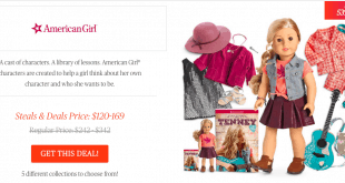 american girl today show steals and deals