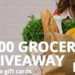 Grocery Giveaway $2000 VISA Gift Card Giveaway