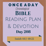 Once A Day Bible Reading Plan & Devotion Day 208
