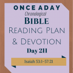 Once A Day Bible Reading Plan & Devotion Day 211