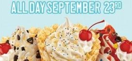 Sonic Half Price Cones All Day September 23