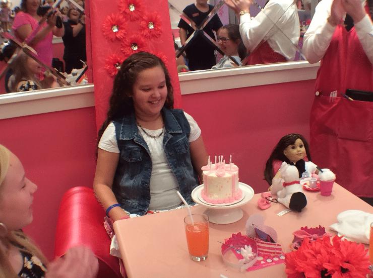 Kariss American Girl birthday cake candles