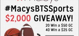 #MacysBTSSports Giveaway
