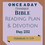 Once A Day Bible Reading Plan & Devotion Day 232