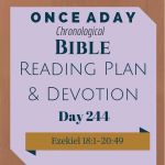 Once A Day Bible Reading Plan & Devotion Day 244