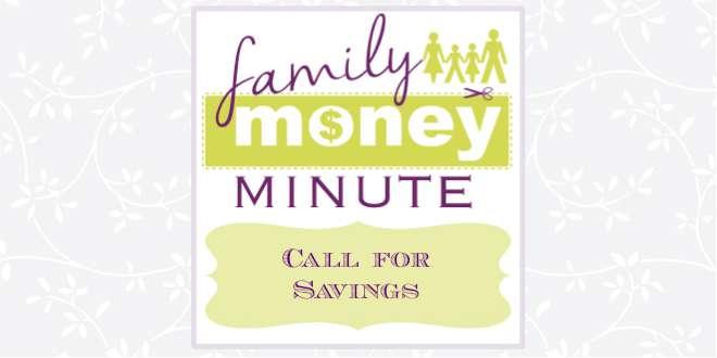 Call for Savings