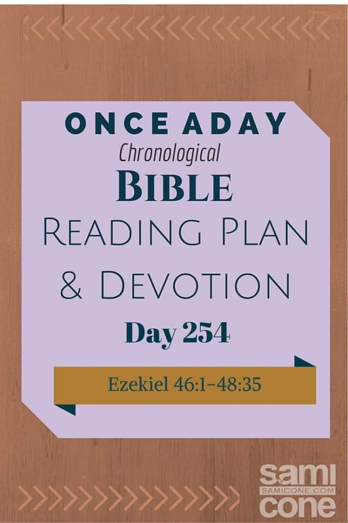 Once A Day Bible Reading Plan & Devotion Day 254