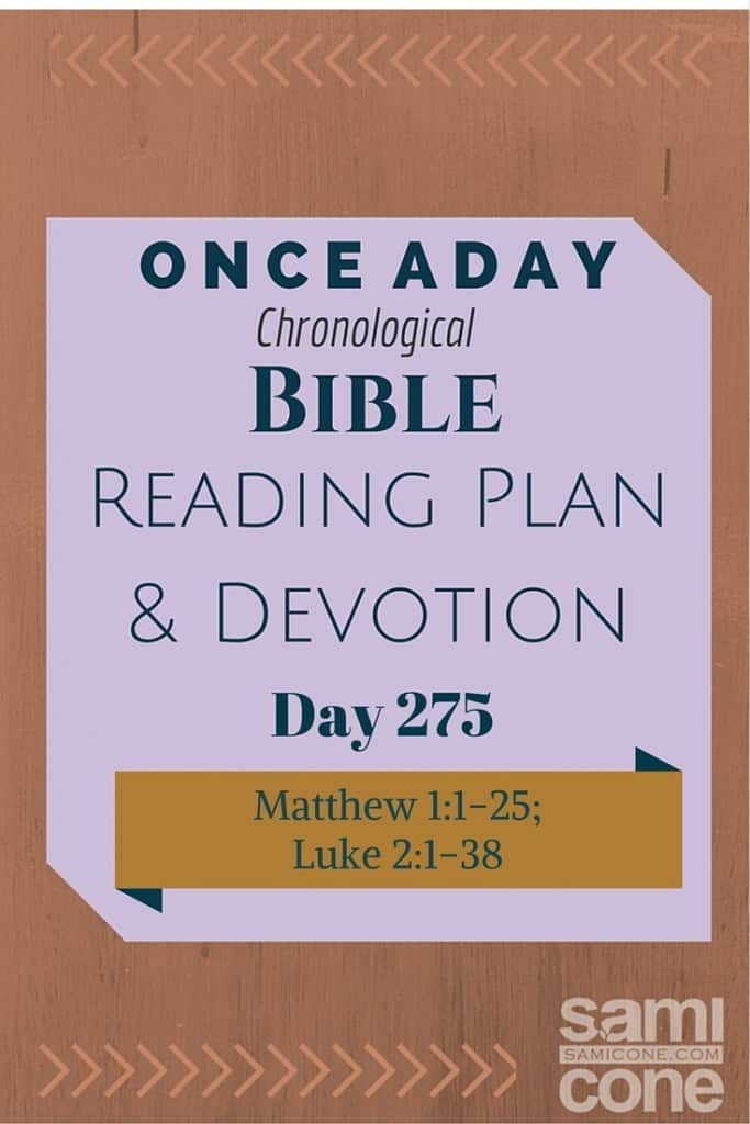 Once A Day Bible Reading Plan & Devotion Day 275